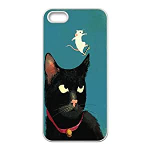 LSQDIY(R) cat iPhone 5,5G,5S Cover Case, DIY iPhone 5,5G,5S Case cat