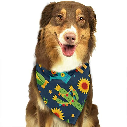 TNIJWMG Pattern of Festa Junina Bandana Triangle Bibs Scarfs Accessories for Pet Cats and Puppies]()