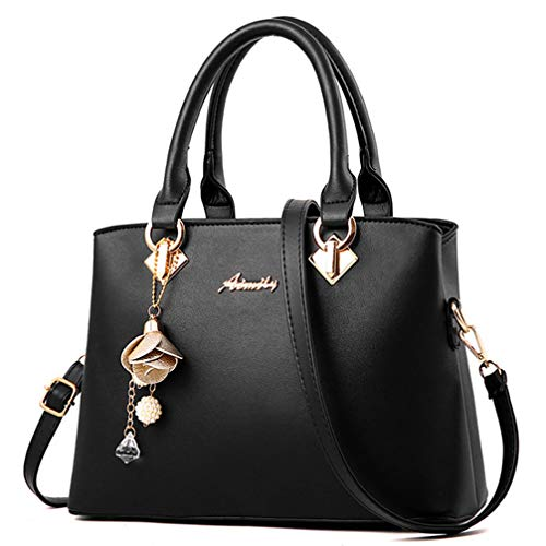 COCIFER Women Top Handle Satchel Handbags Shoulder Bag Tote Purses Messenger Bags (Double Handle Handbags)
