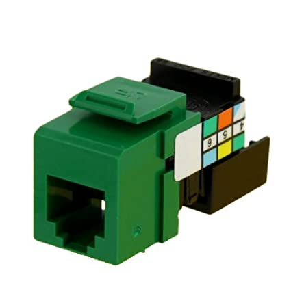 Blue Leviton 41106-RL6 6P6C Voice Grade QuickPort Connector