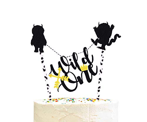 Wild One Birthday Cake Topper- Handmade Where the Wild Things are Cake Topper First Birthday Decorations for Baby 's Photo Booth -