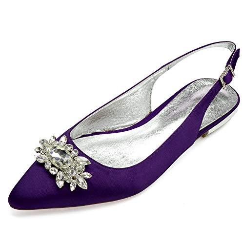De Pompes A YC SoiréE De Taille Mode Chaussures Ivoire L Satin Boucle De De 43 36 Femmes Mariage XAqnw