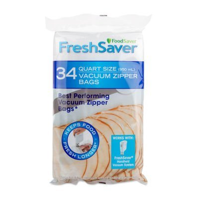 Amazon.com: FoodSaver freshsaver 34 quart-sized y 20 bolsas ...