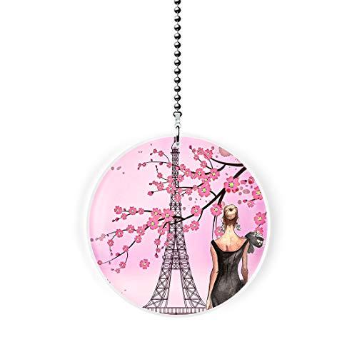 Springtime Paris Fashions Fan/Light Pull