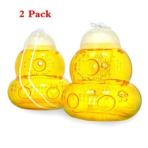 Wasp Trap - Natural Non-Toxic Bee Catcher Honey Pot,Reusable 2 Pack