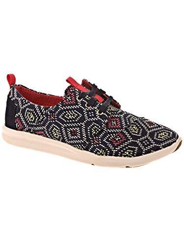 Toms Womens Del Rey Sneaker Navy Multi Tessuto