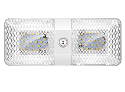 41MYhT%2BHkmL Kriogor LED Innenbeleuchtung Auto, 12V KFZ Deckenleuchten 48LED 600LM RV Lamp Beleuchtung mit ON/OFF Schalter, Universal…