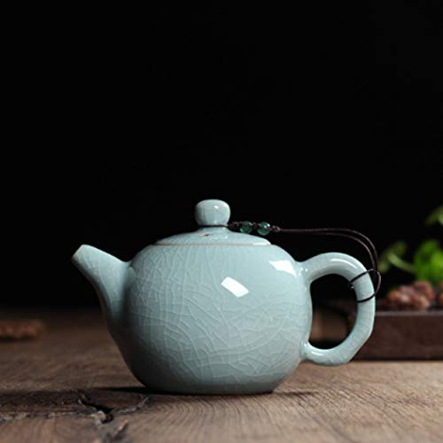 - Ceramic Tea Kettle Crackle Glaze Celadon Zisha Pottery China Teapot Porcelain Purple Clay Teapot