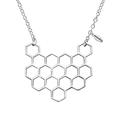 Hexagon Honeycomb Geometric necklace