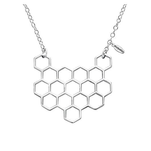 Hexagon Honeycomb Geometric necklace