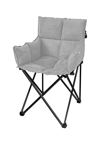 Urban Shop Grey Quilted Lounge Chair by Urban Shop