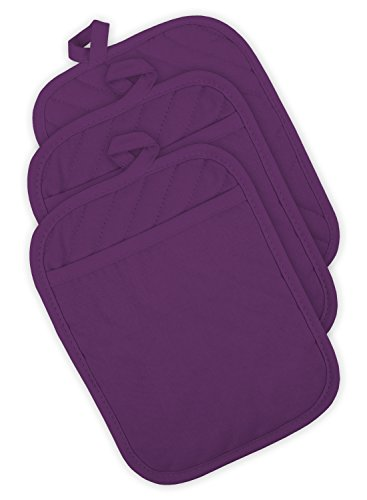 DII Quilted Resistant Washable Baking Eggplant