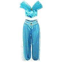 ReliBeauty Girls Sequin Pant Set Princess Costume