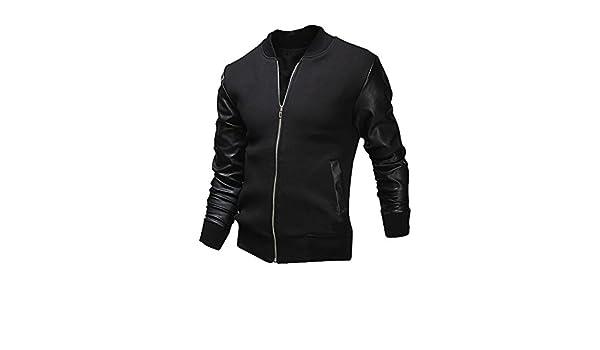 Amazon.com: 2019 😊Men Casual Jackets,Boys Autumn Winter Slim Collar Tops (M, Black): Electronics