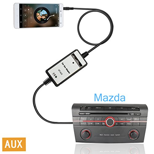 Moonet Mazda Ipod Iphone Car Adapter Integration Kit System Module for Mazda 2 3 5 323 Miata Mx5 Miata SPD Tribute Premacy B-Series - Factory Stereo Ipod Adapters