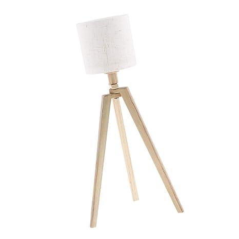 KESOTO Mini Lámpara de Pie con Luz LED en Forma Rolliza con ...