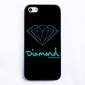 Diamond Supply co HD image Plastic case cover for Iphone5 5S case black silicone Soft shell nice packaged by LINDAS