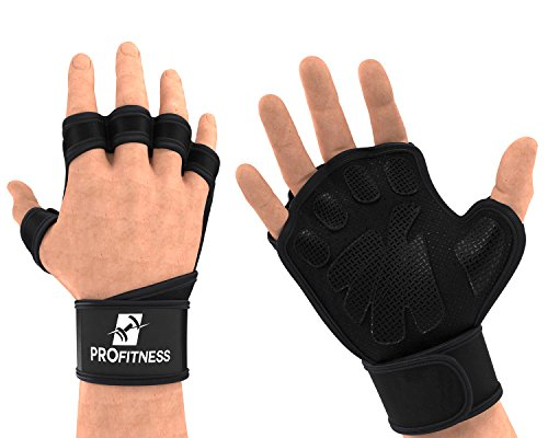 Workout Glove with wrist-wrap