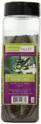 Jansal Valley Whole Peppercorns, Melegueta 16 Ounce by Jansal Valley