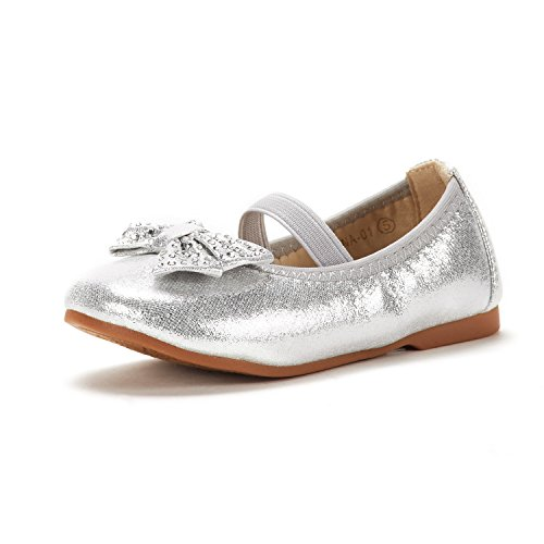 DREAM PAIRS Toddler Tiana_01 Silver Girl's Mary Jane