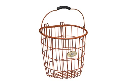 Nantucket Bicycle Basket Co. Surfside Rear Wire Pannier Basket, Orange