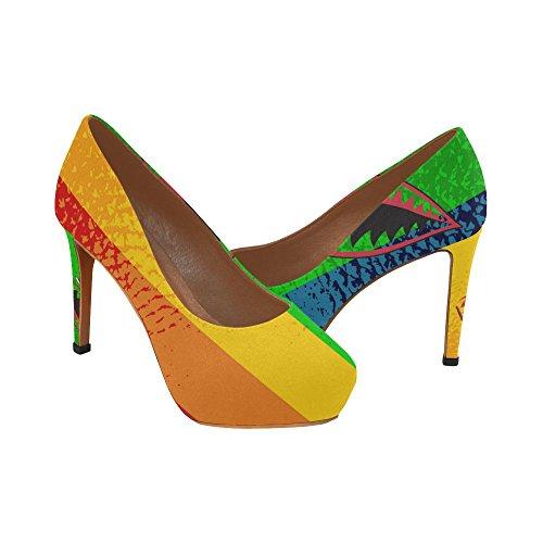 D-histoire Flamingo Femmes Stiletto Sexy Talon Haut Pompes Chaussures Multicolored14
