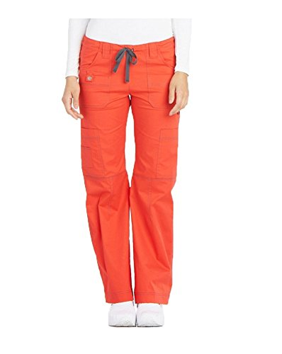 Gen Flex By Dickies Women's Youtility Drawstring Elastic Waist Scrub Pant Large Fiesta