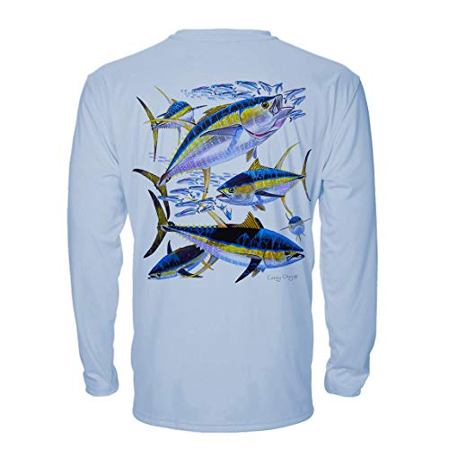 Denali Performance Men's UPF 50+ ProtectUV Mega Solar Long Sleeve T-Shirt Designed by Carey Chen: Yellow Fin ()