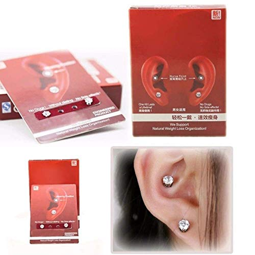 NiuChong Ear Nail Fat Burning Without Dieting Magnet Crystal Earring Ear Stud Valid Love it by NiuChong