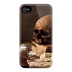 Hot Covers Cases For HTC One M8 Cases Covers Skin - Skull Wallpaper