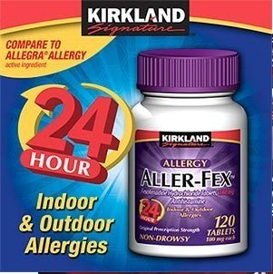 Kirkland Signature Aller-Fex 180 mg - 120 Tablets