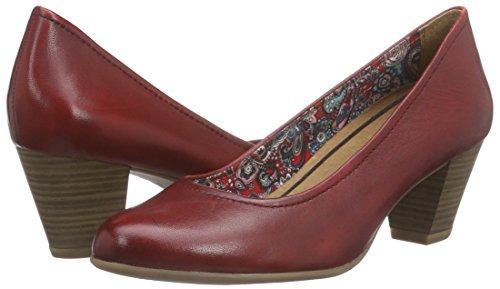 Du Avant 22408 Chaussures Rouge Pieds Talons Tamaris Femme Couvert Pâle À ZnIXBRB1q