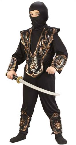 Fun World kid's 3d ninja halloween costume Black
