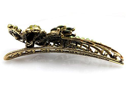 Skyllc Lega dei monili bronze Clips Colore di cristallo del pavone Hair Fashion