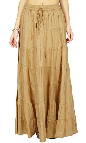 Phagun Resort Wear Skirt Long Maxi Skirt Beach Wear Cotton Summer Wear ()