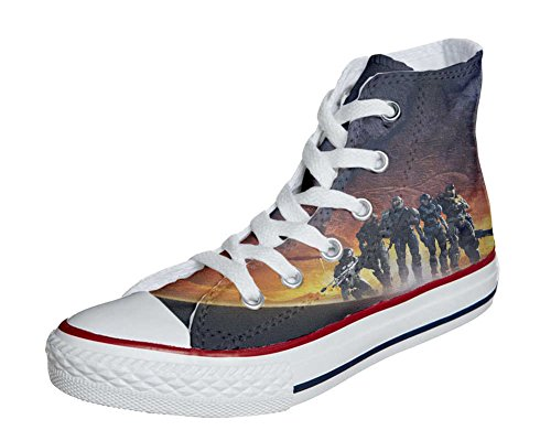 Converse All Star Customized - Zapatos Personalizados (Producto Artesano) Soldados EN La Guerra
