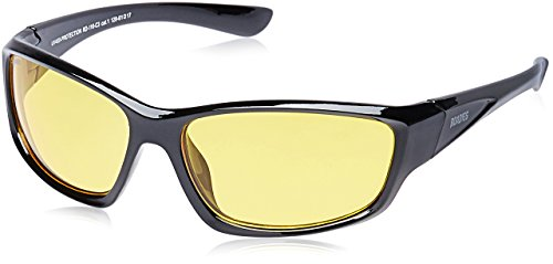 MTV Roadies Unisex Wrap Around Light Weight Sporty with 100% UV Blocking Shatterproof Polycarbonate Lens Sunglasses RD-116 (Ambermatic Yellow, Ambermatic - Sunglasses Mtv