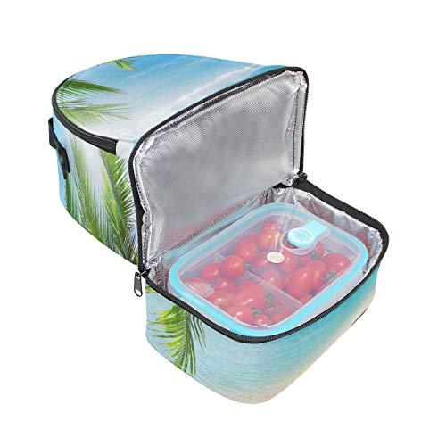 de Bolso océano doble almuerzo y con de palma para playa picnic pantalón el para del correa hombro ajustable q141d8