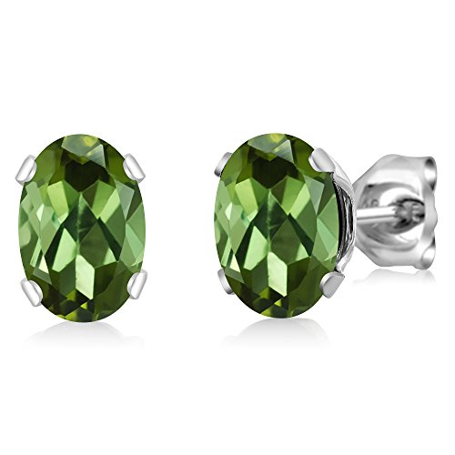 in pippa earrings product green small jewelry normal stud lyst tourmaline