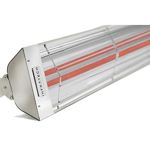 Infratech WD4024SS Dual Element – 4000 Watt Electric Patio Heater, Choose Finish: Stainless Steel