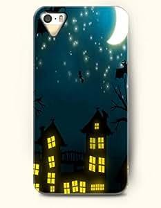 SevenArc iPhone 5 5s Case - Happy Halloween Bat Flying Under White Moon In The Night