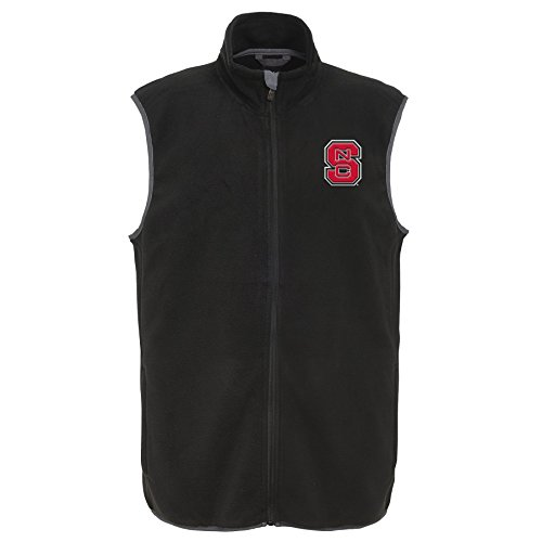 Outerstuff NCAA North Carolina State Wolfpack Men's Scrimmage Polar Fleece Vest, Black, Men's Large by Outerstuff