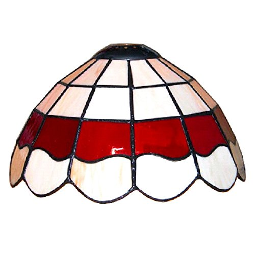 Tiffany style white and red stained glass pendant light shade tiffany style white and red stained glass pendant light shade mozeypictures Images