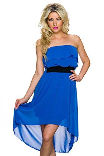 Fashion - Vestido - Noche - Básico - Sin mangas - para mujer Azul