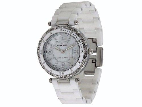 Anne Klein Ceramic Bracelet White Dial Women's Watch #9703MPWT