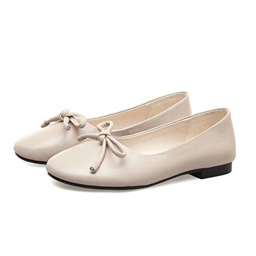 Chaussures Occasionnels à Ronde Plat Tête MEI White Peu La Profonde amp;S de Femmes Bouche Rice STxY0Fqw