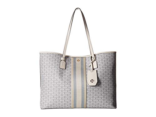 (Tory Burch Women's Gemini Link Canvas Tote New Ivory One Size)