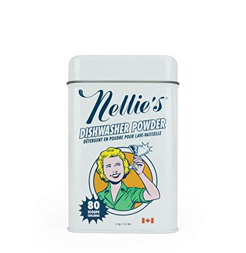 (Nellie's NAD-E All Natural Automatic Dishwasher Powder,2.2lbs (80 scoops))