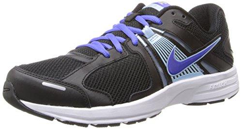 Zapatillas De Running Nike Dart 10 Negras / Violetas Para Mujer Negro / Azul Hielo / Plata Metálica / Violeta Force