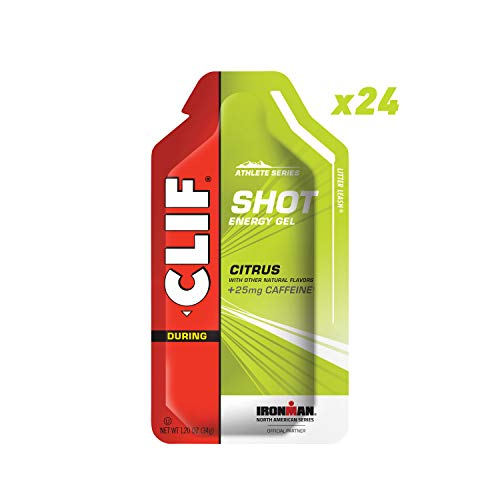 CLIF SHOT - Energy Gel - Citrus - 25mg Caffeine (1.2 Ounce Packet, 24 Count)